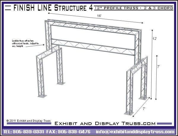 Exhibition Stand Revit : Portable modular truss systems for marathon finish line or