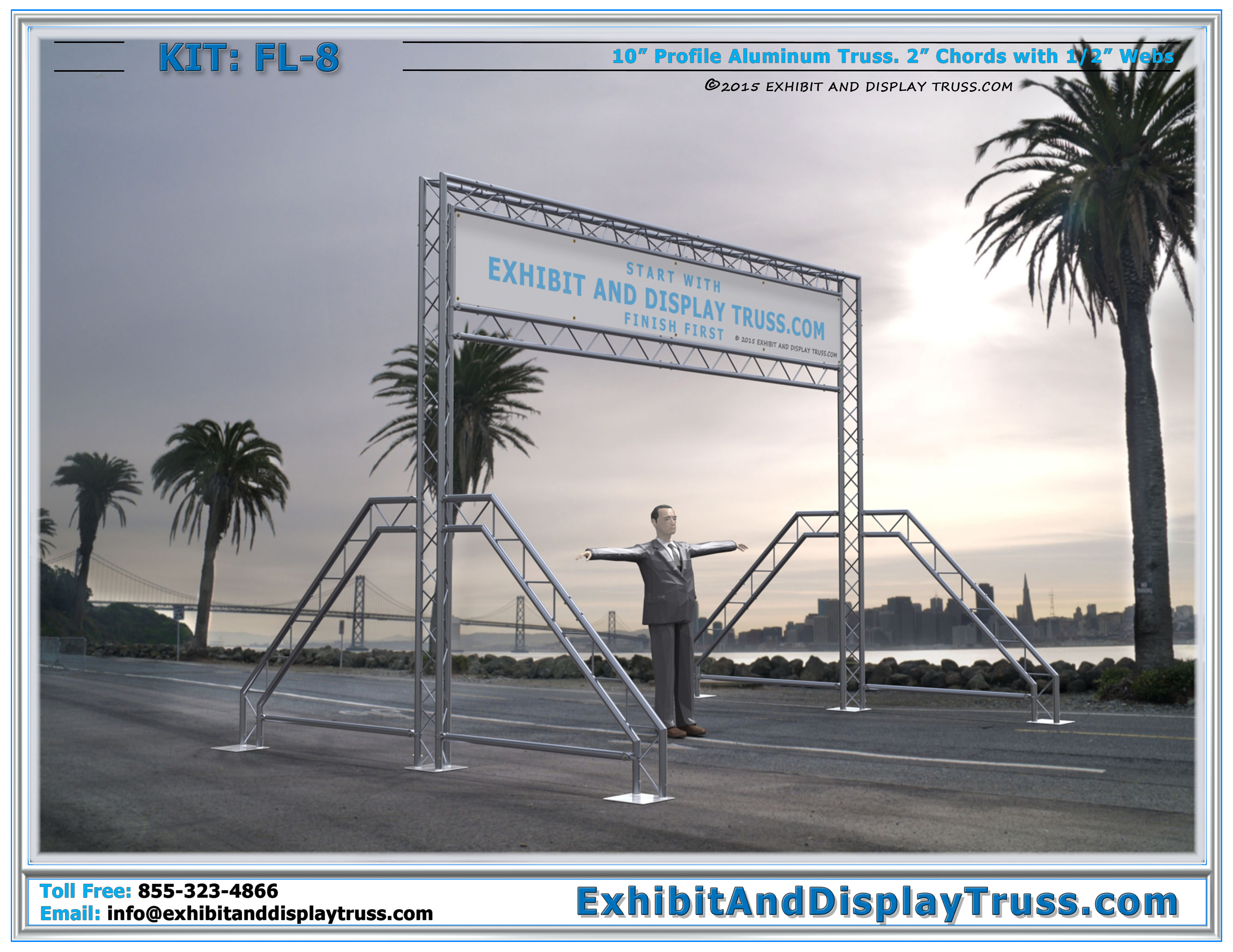 The Nation's Best Portable Finish Line Truss Systems