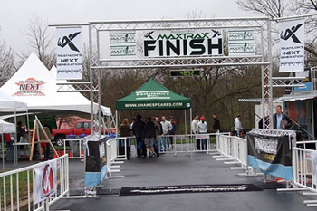 time clock truss system for marathon running race