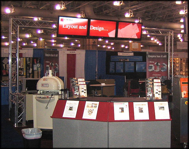 Trade Show Booth Equipment : Trade show display for empire bakery equipment