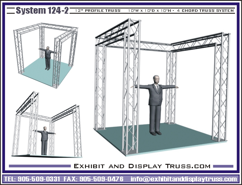Exhibition Booth Structure : Trade show exhibit booth display truss portable