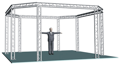 20' x 20' trade show display truss system