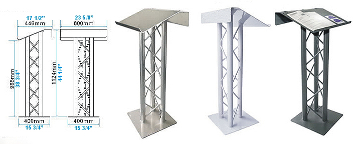 Lecterns Podiums And Pulpits For Trade Show Presentation Or House Of Worship And Schools Huge Selection Of Light Weight Aluminum Lecterns And Podiums