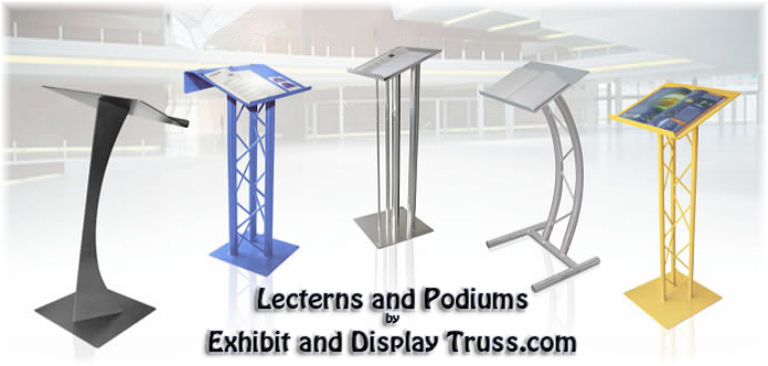 Aluminum Truss Lectern and Podiums from Exhibit and Display Truss.com