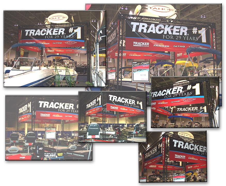 Tracker Boats Aluminum Tradeshow Truss System Display