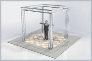10 x 10 aluminum truss exhibt display booth kit