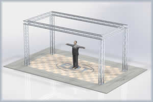 10 x 20 aluminum truss exhibit display booth kit