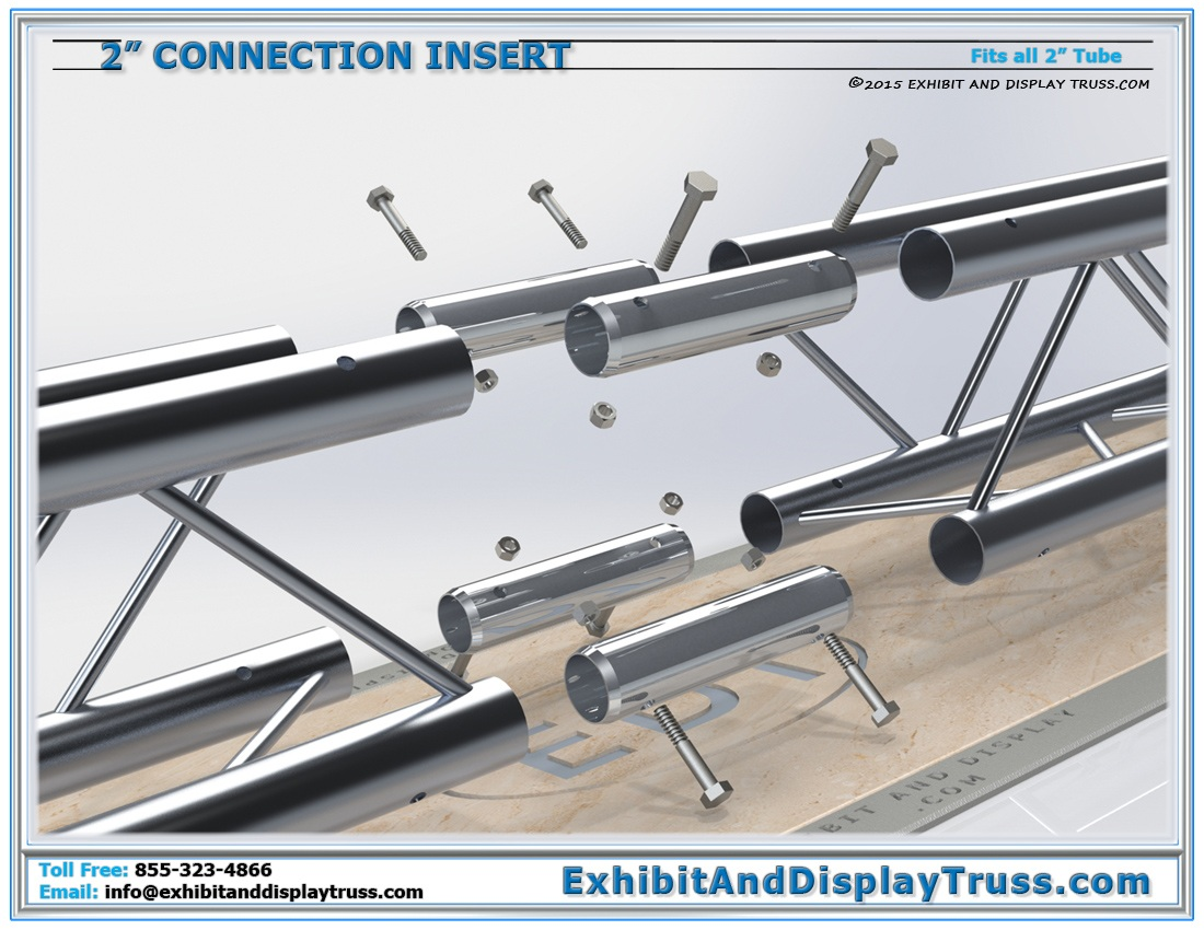 2″ Tube Connection Insert / Connecting 2″ Tube Truss Together