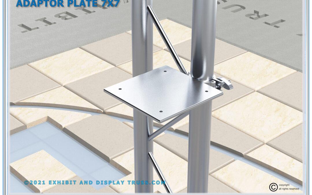 7×7 Aluminum Shelf Adaptor Plate