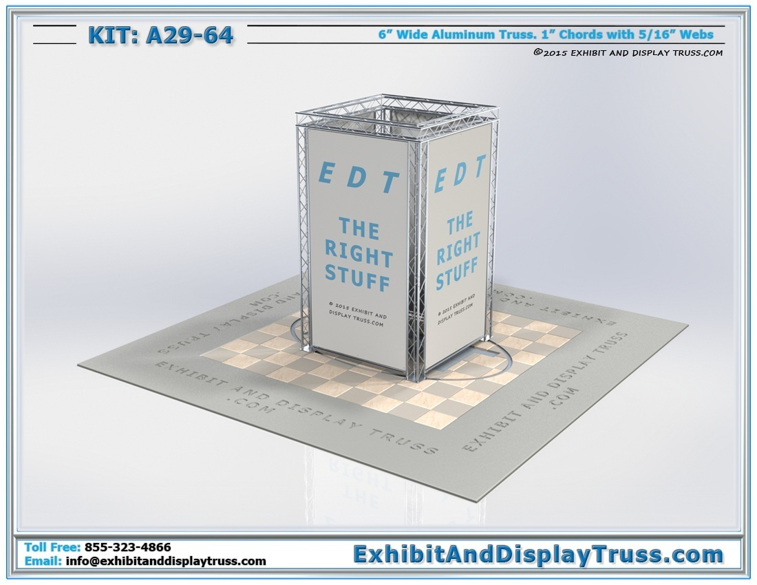Kit: A29-64 / Trade Show Booth Media Tower