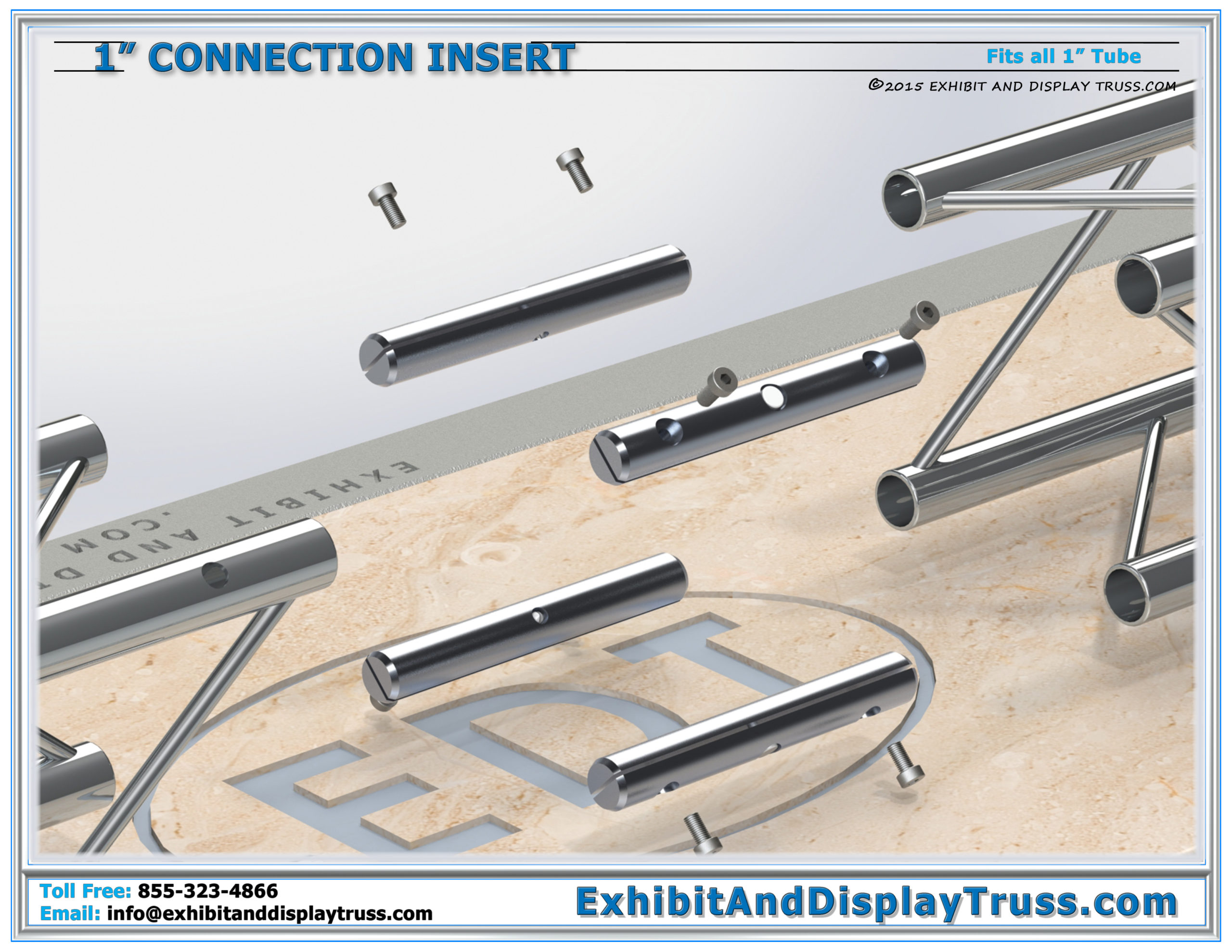 1″ Tube Connection Insert / Connecting Truss Together