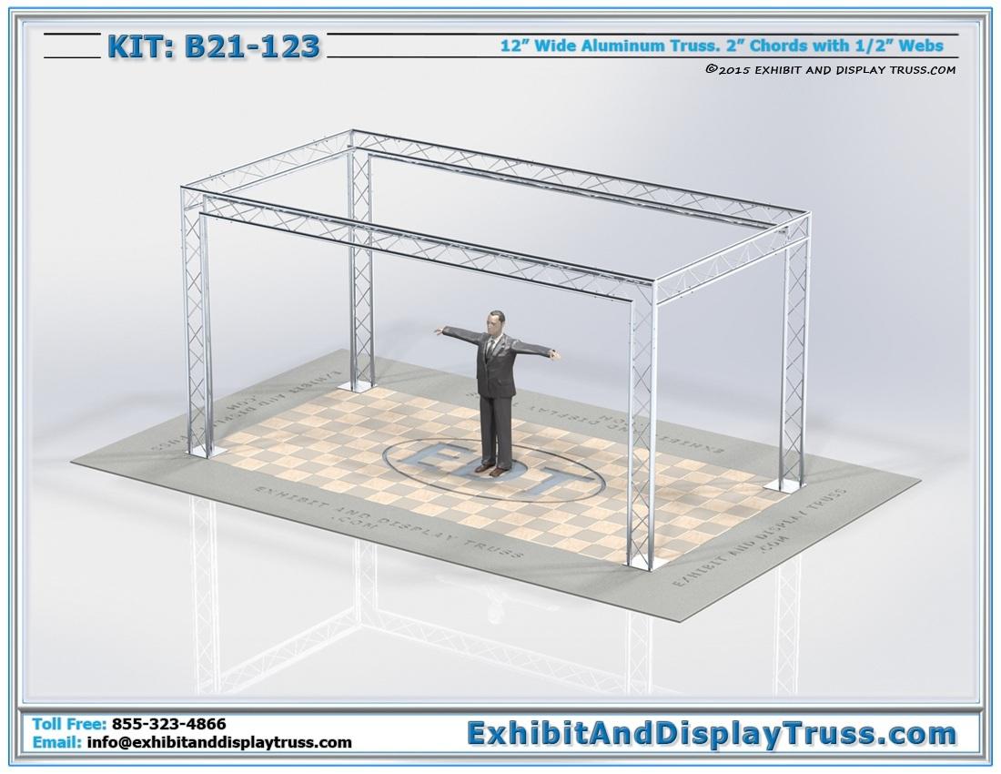 Kit: B21-123 / Cost-Effective Modular Perimeter Display Booth Design