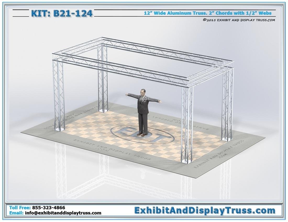 Kit: B21-124 / Modular and Durable Aluminum Truss System