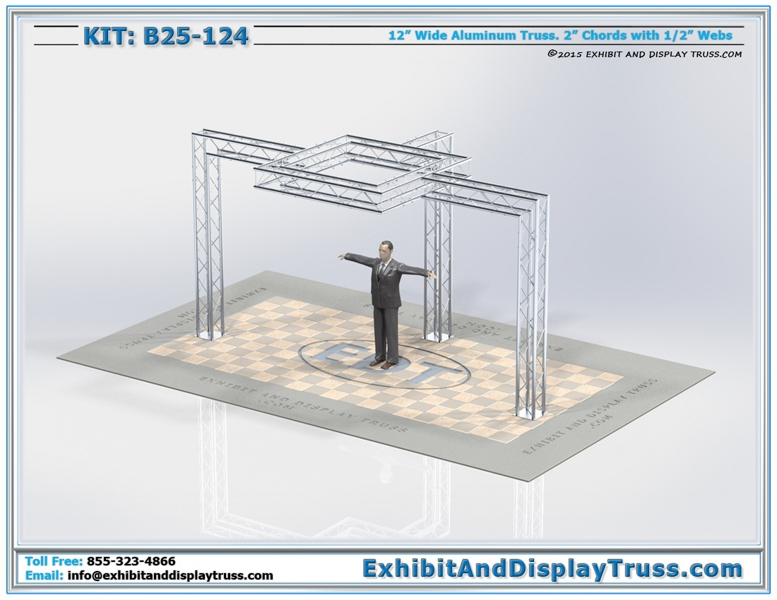 Kit: B25-124 / Lightweight Convention Trade Show Exhibit Booth for LCD TV's
