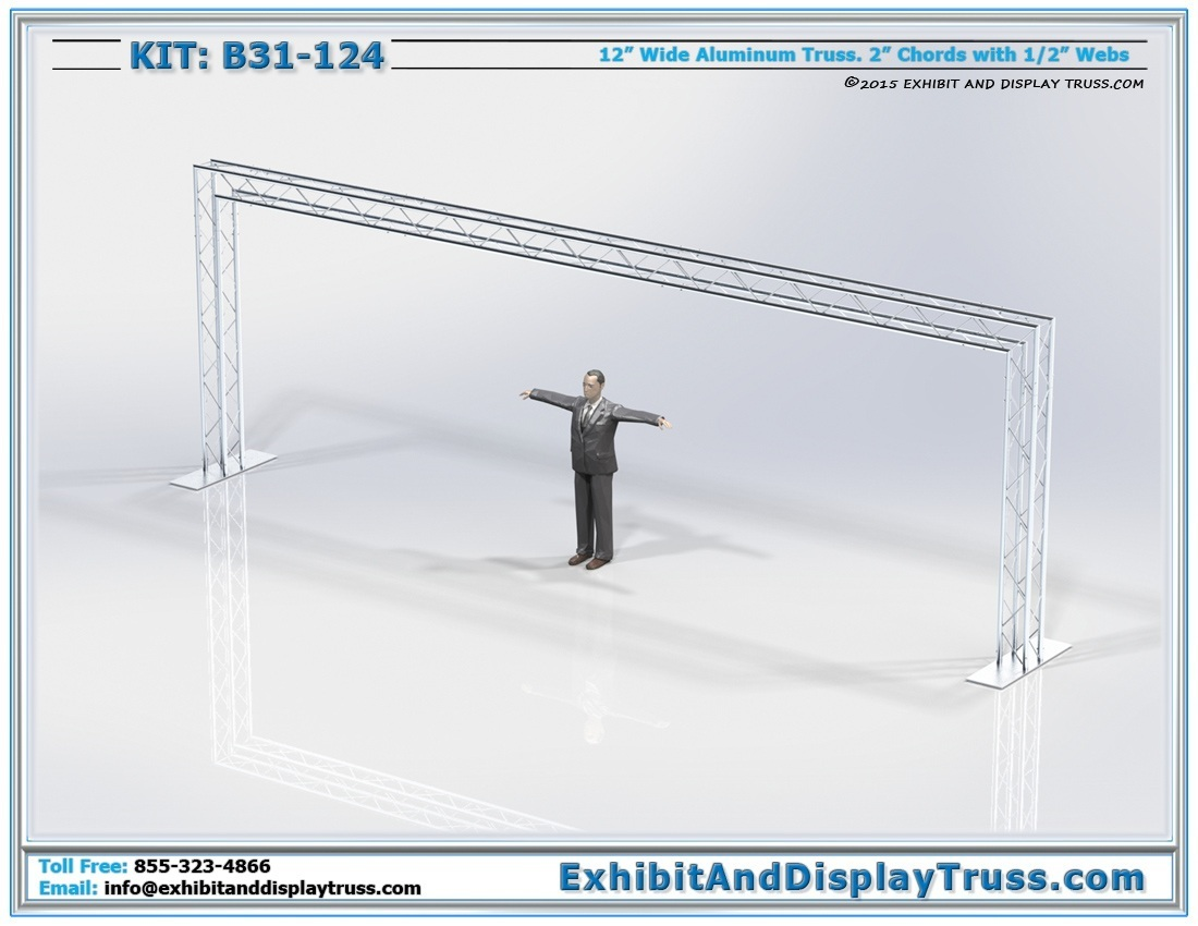 Kit: B31-124 / Portable Aluminum Truss Archway for Banners and Lights