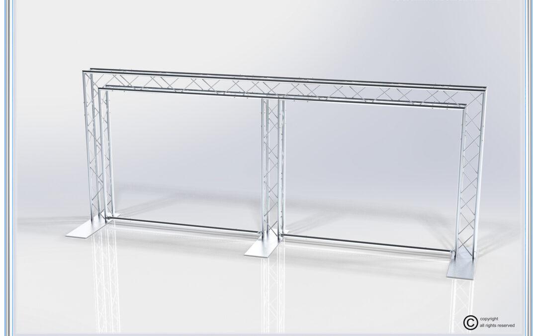 Kit: B55-124 / Double Banner Aluminum Truss Back Wall