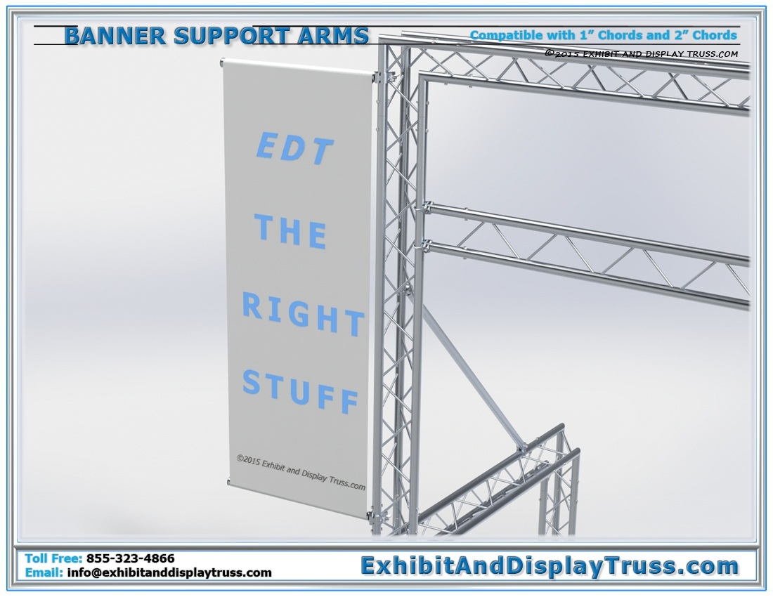 Heavy Duty Banner Support Arms / Add Extra Sponsorship Banners Easily to Any Display and Finish Line