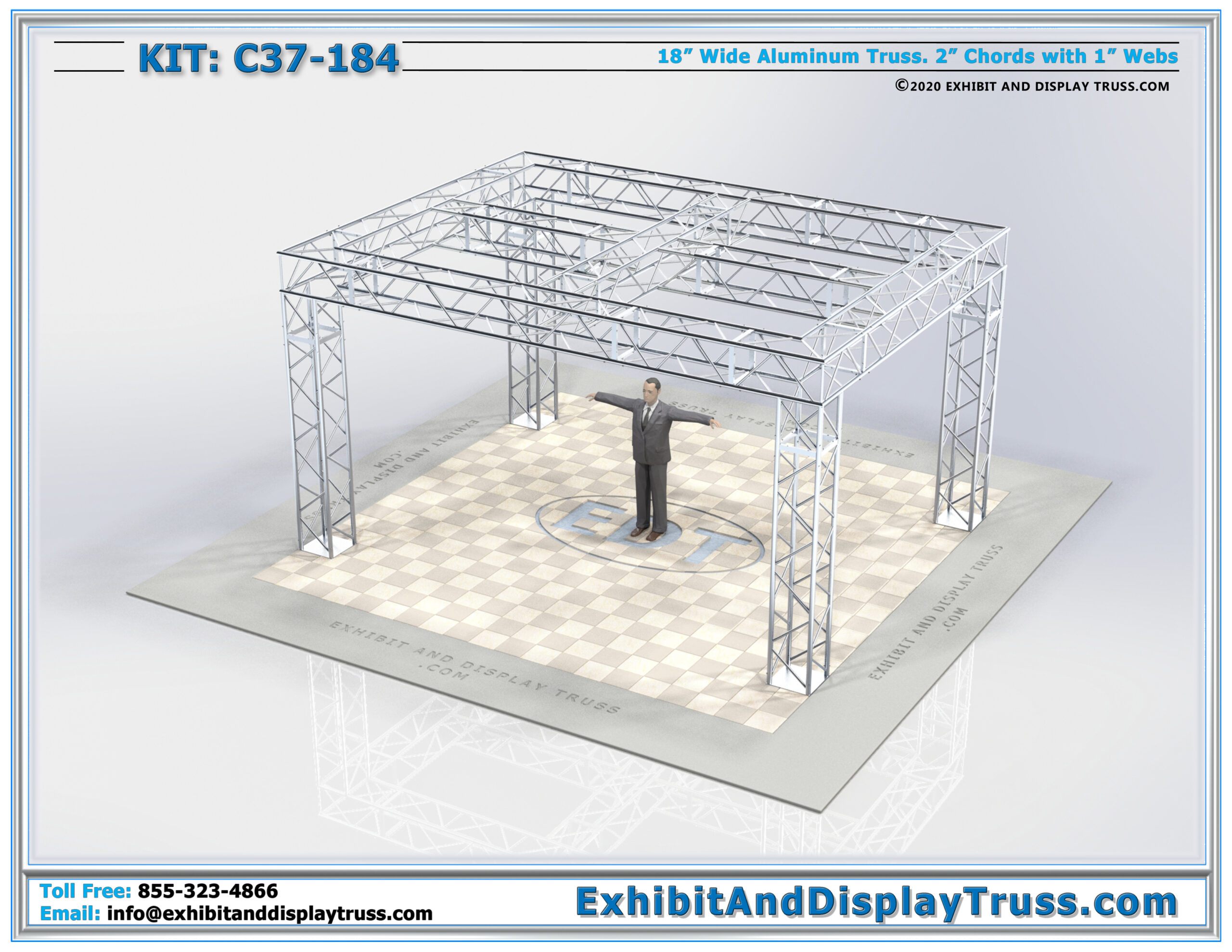 Kit: C37-184 / Heavy Duty Truss System and Trade Show Exhibit Display