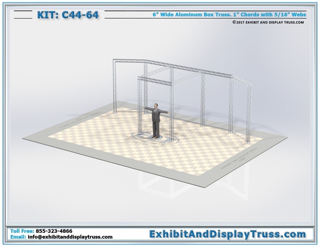 Kit: C44-64 / Portable Aluminum Truss Trade Show Sign Wall