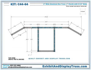 Top View Dimensions for Step and Repeat Sign and Banner Wall for Trade Shows