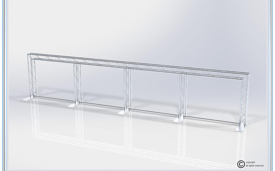 Kit: C55-124 / Multi-Banner Aluminum Truss Back Wall