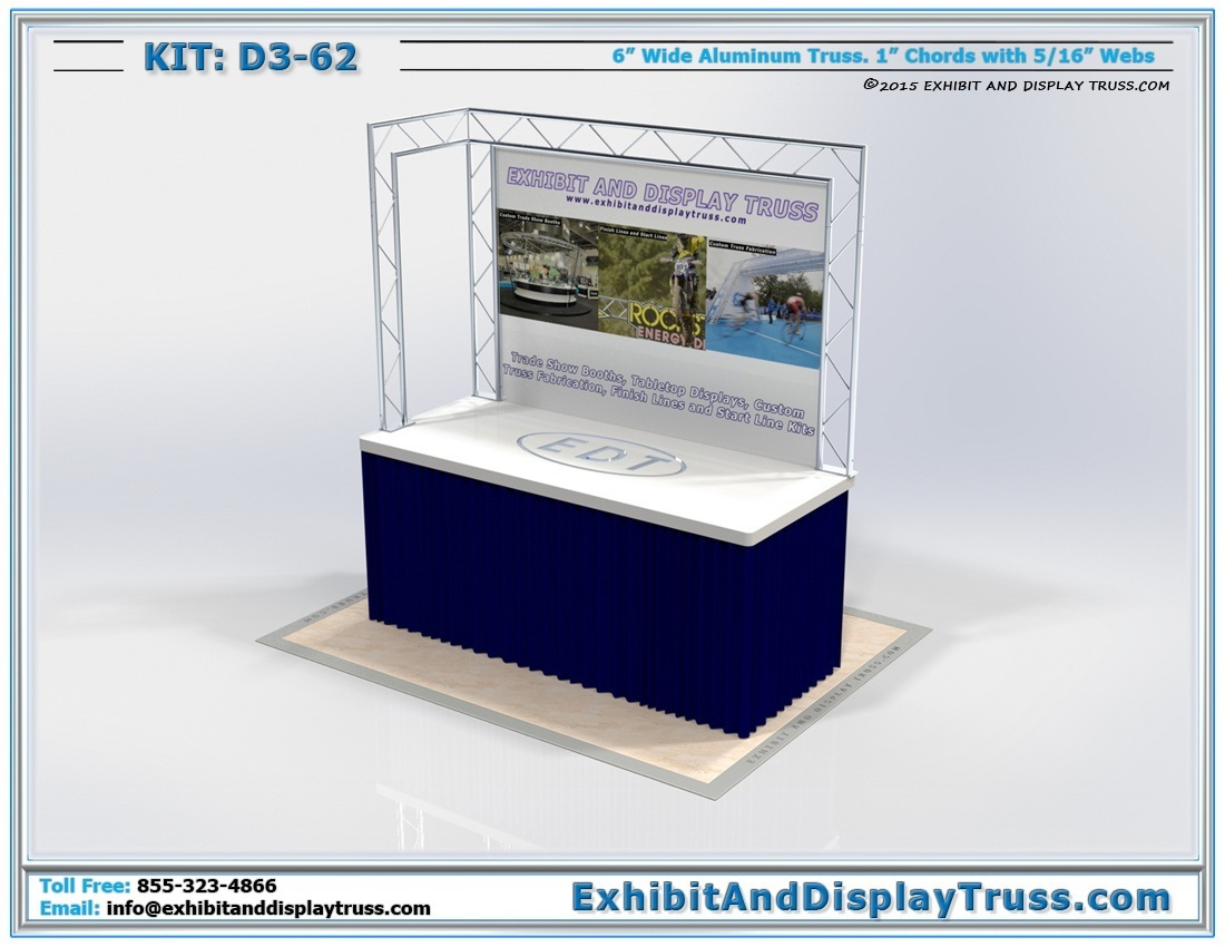Kit: D3-62 / Tabletop Display Stand for Metal Display Racks at Vendor Booths