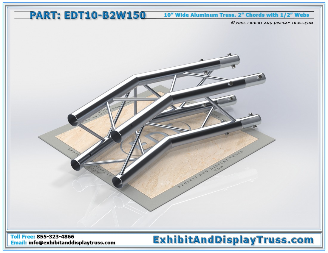 EDT10-B2W150 / 10″ Wide 2 Way 150° Box Junction