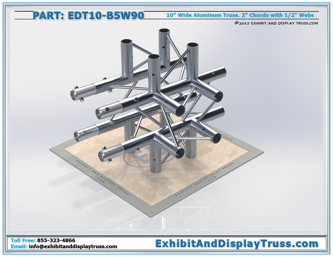 EDT10-B5W90 / 10″ Wide 5 Way 90° Box Junction