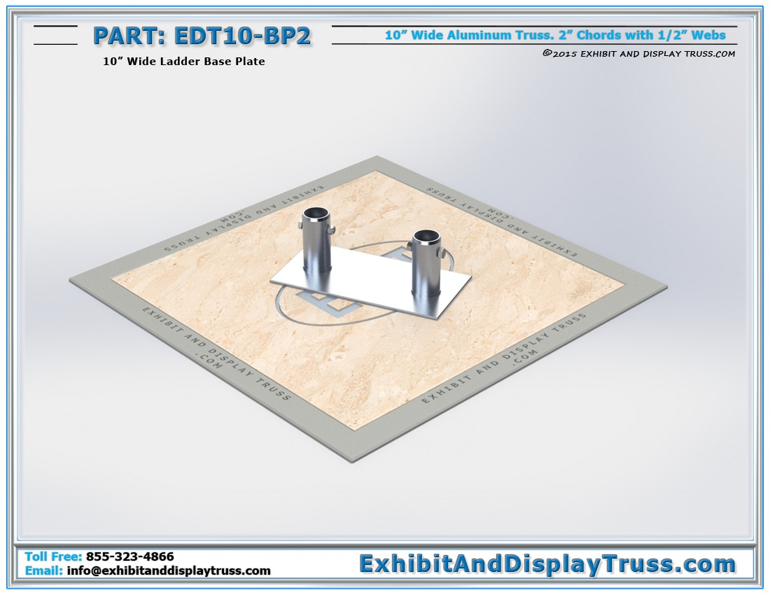 EDT10-BP2 / 10″ Wide Ladder Base Plate