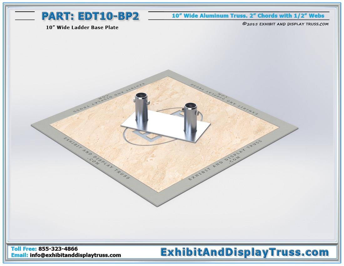 EDT10-BP2 / 10″ Wide Ladder Base Plate