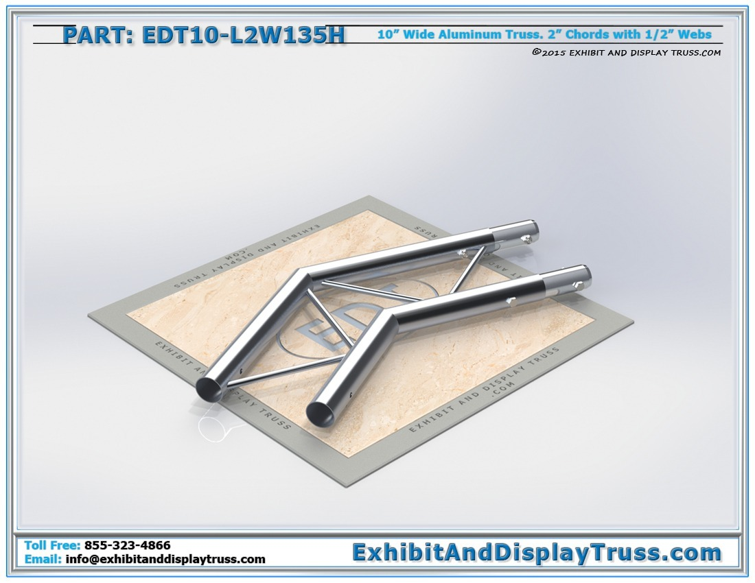 EDT10-L2W135H / 10″ Wide 2 Way 135° Junction Horizontal