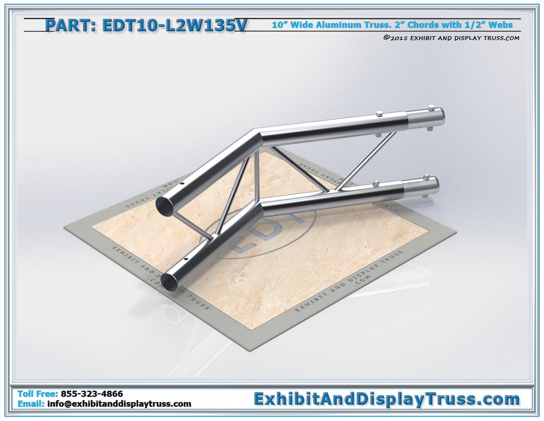 EDT10-L2W135V / 10″ Wide 2 Way 135° Junction Vertical