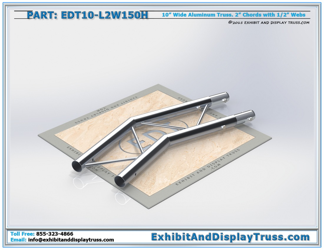 EDT10-L2W150H / 10″ Wide 2 Way 150° Junction Horizontal