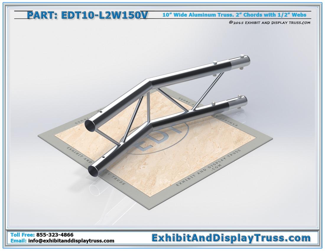 EDT10-L2W150V / 10″ Wide 2 Way 150° Junction Vertical