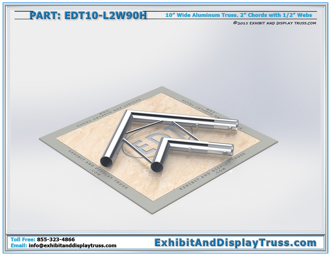 EDT10-L2W90H / 10″ Wide 2 Way 90° Junction Horizontal