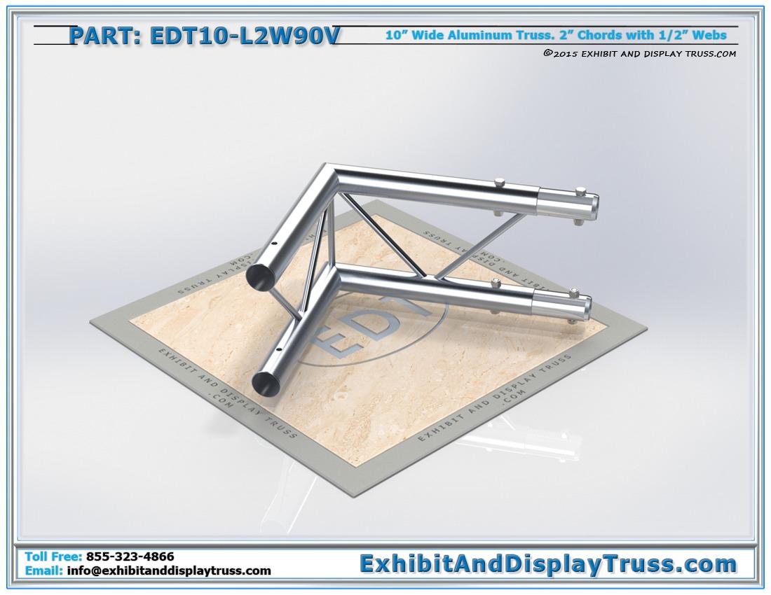 EDT10-L2W90V / 10″ Wide 2 Way 90° Junction Vertical