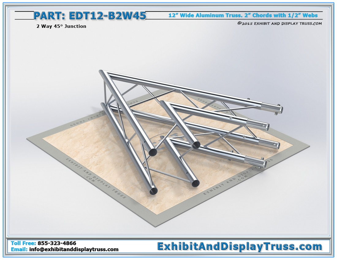 EDT12-B2W45 / 12″ Wide 2 Way 45° Box Junction