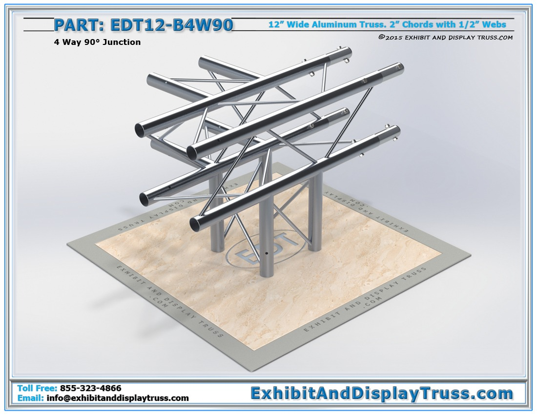 EDT12-B4W90 / 12″ Wide 4 Way 90° Box Junction