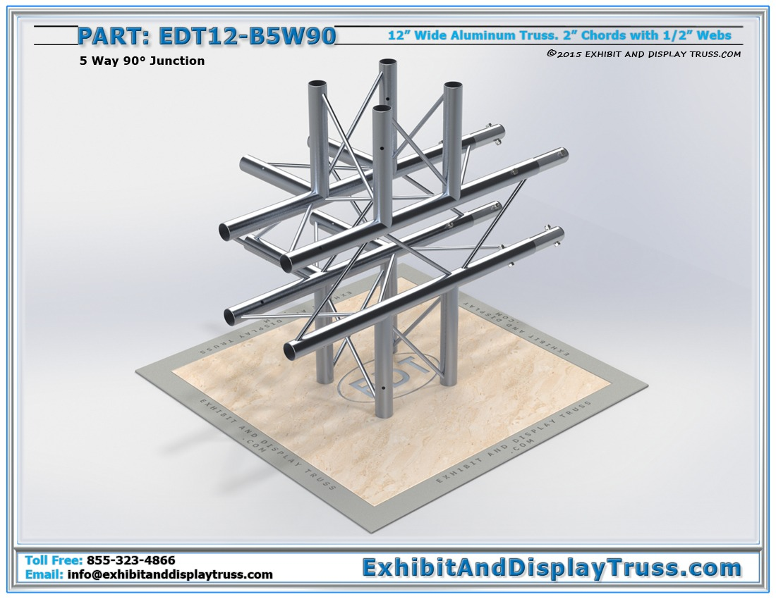 EDT12-B5W90 / 12″ Wide 5 Way 90° Box Junction