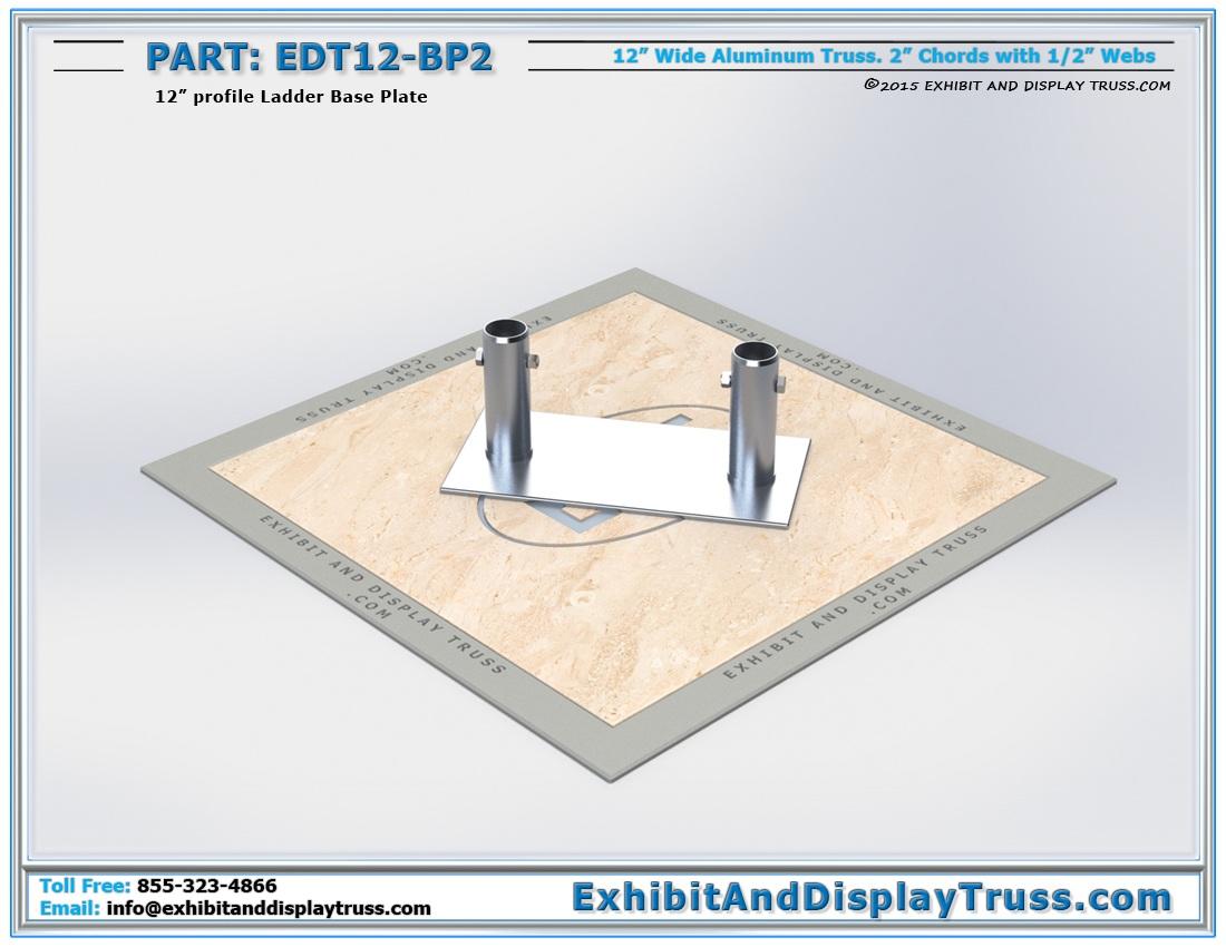 EDT12-BP2 / 12″ Wide Ladder Base Plate