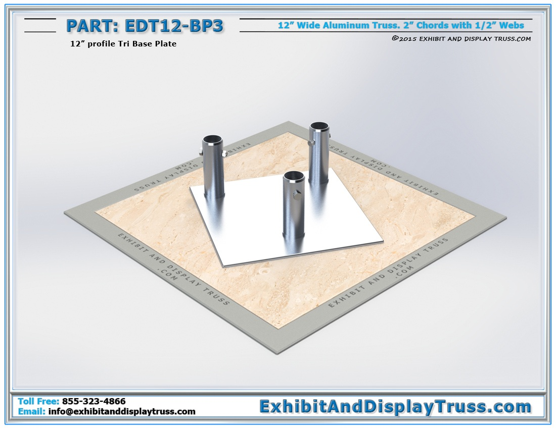 EDT12-BP3 / 12″ Wide Tri Base Plate