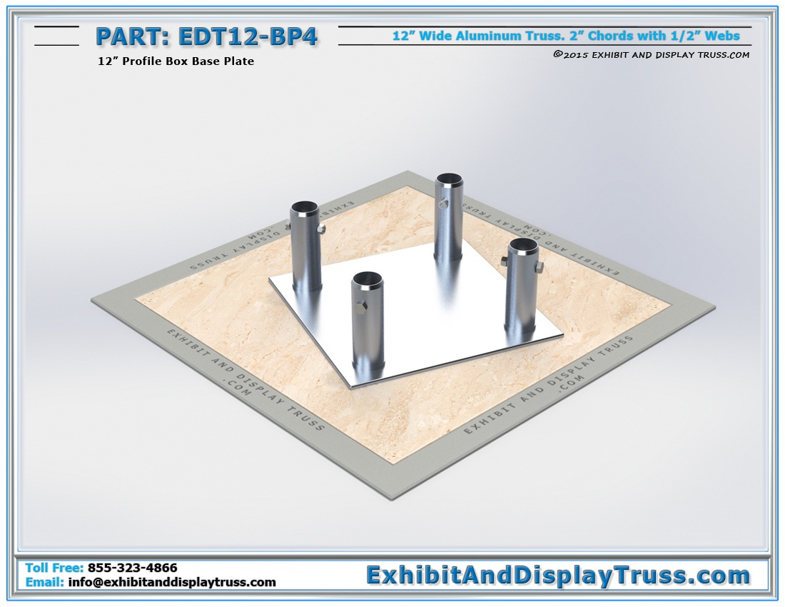 EDT12-BP4 / 12″ Wide Box Base Plate