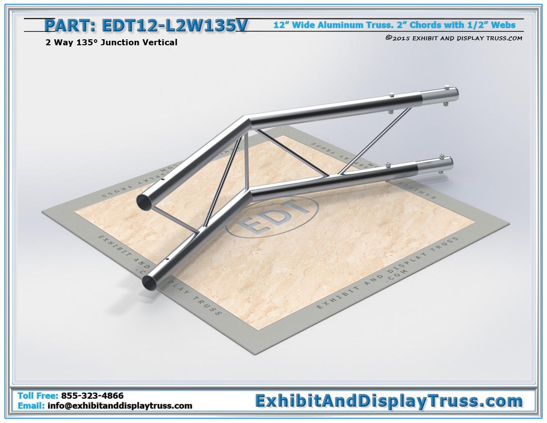 EDT12-L2W135V / 12″ Wide 2 Way 135° Junction Vertical