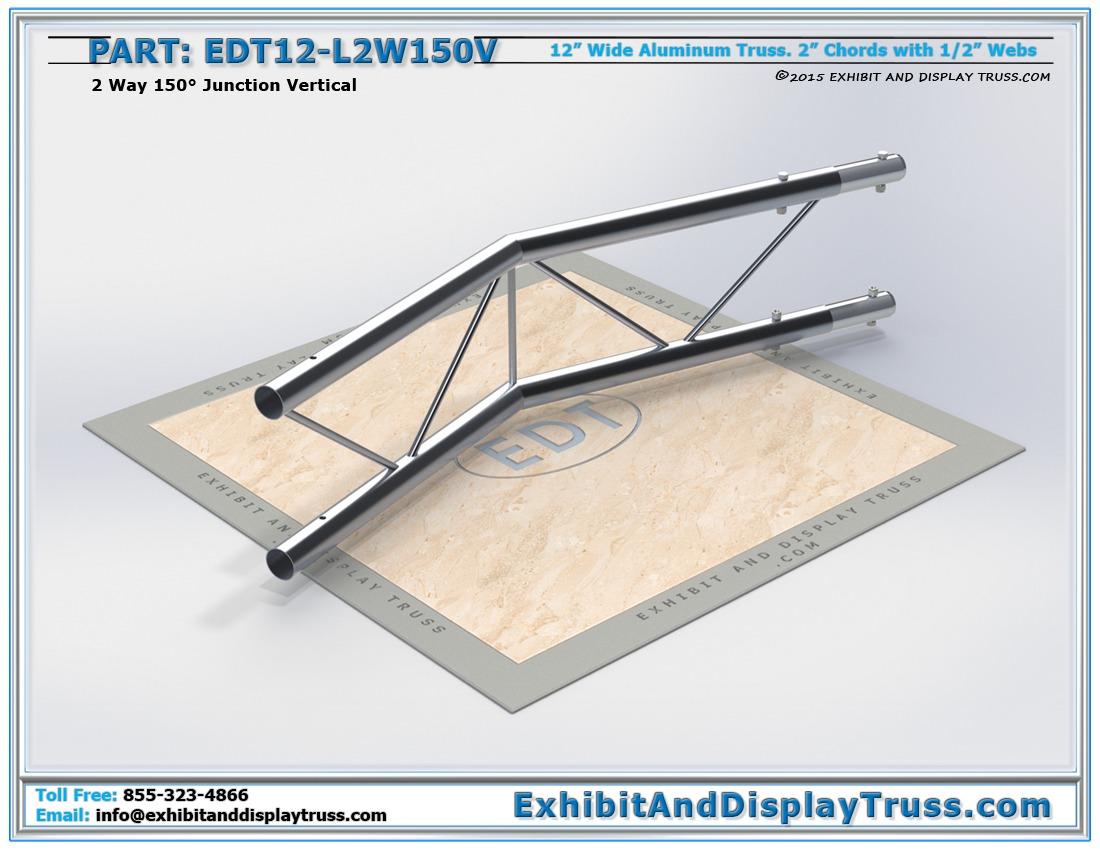 EDT12-L2W150V / 12″ Wide 2 Way 150° Junction Vertical
