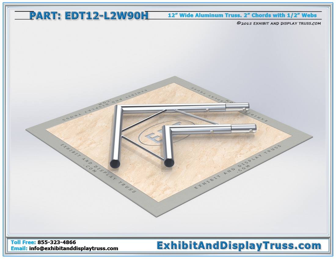 EDT12-L2W90H / 12″ Wide 2 Way 90° Junction Horizontal