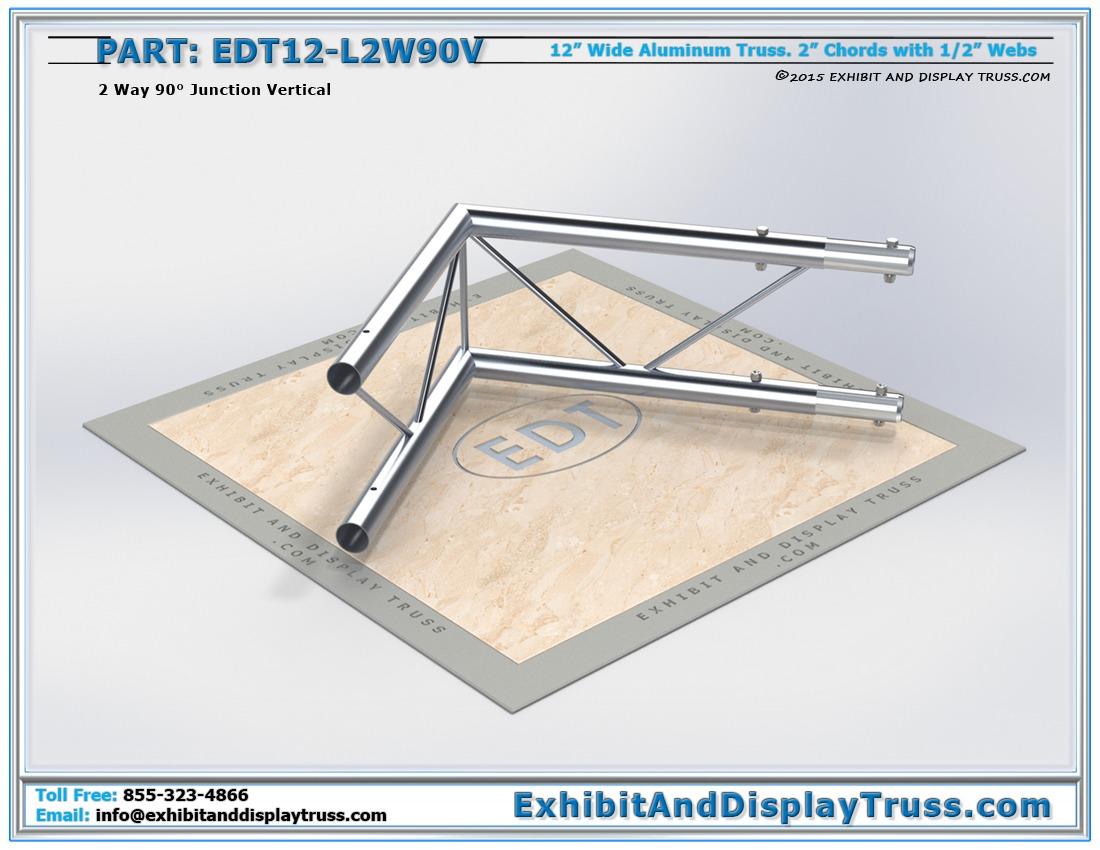 EDT12-L2W90V / 12″ Wide 2 Way 90° Junction Vertical