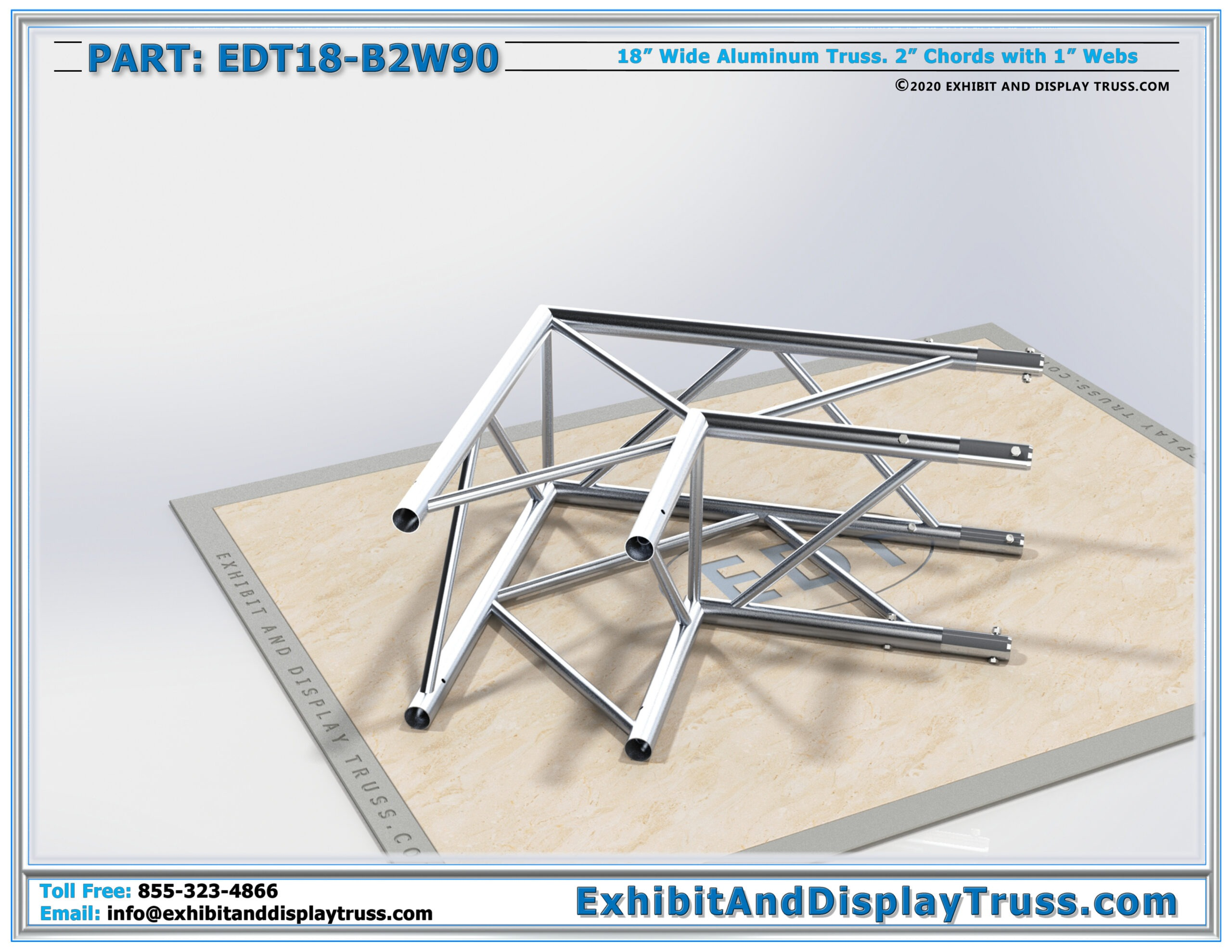 EDT18-B2W90 / 18″ Wide 2 Way 90° Box Junction