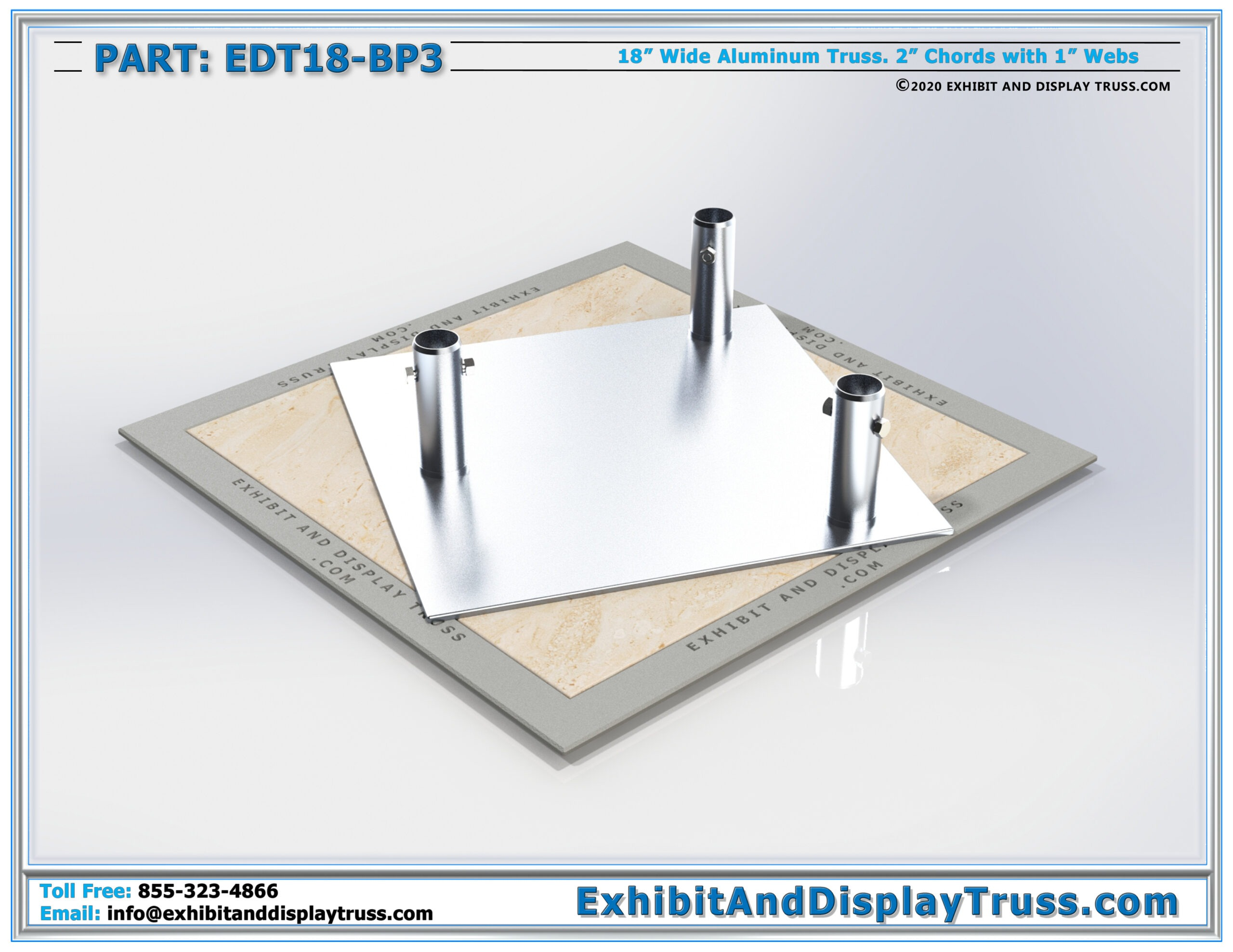 EDT18-BP3 / 18″ Wide Triangle Base Plate