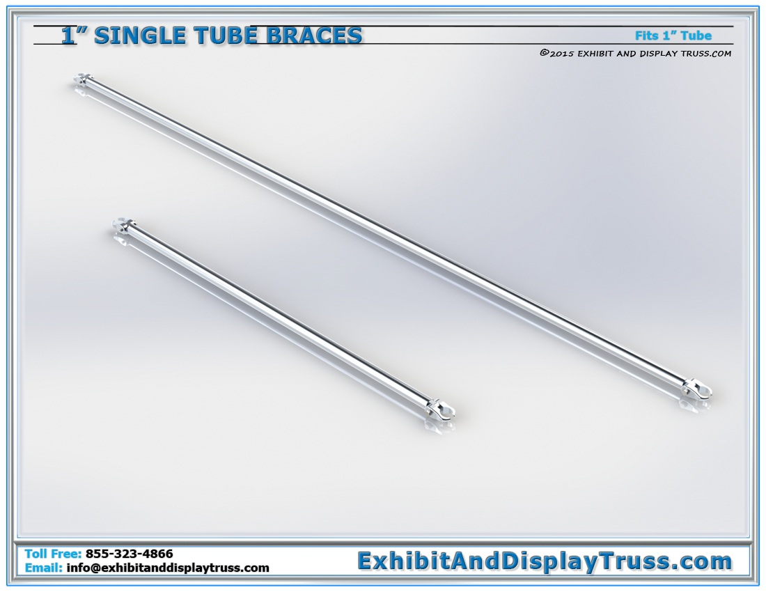 1″ Single Tube Braces / 1″Ø Tube with Extender Hook Clamps