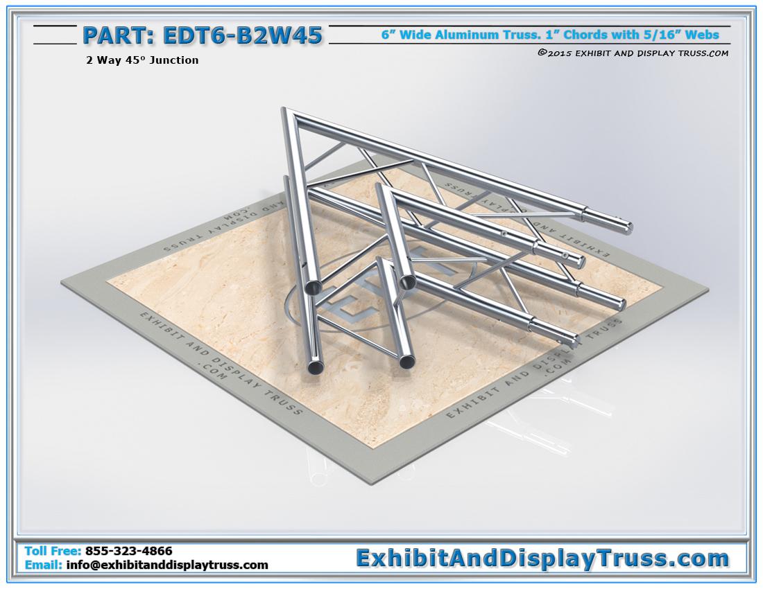 EDT6-B2W45 / 2 Way 45° Box Junction